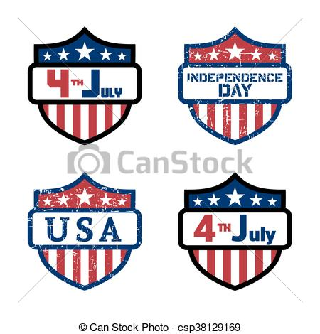 450x470 Symbol American Independence Day Shield. American Flag Clip Art
