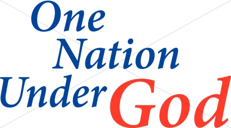 776x431 One Nation Under God Independence Day Word Art
