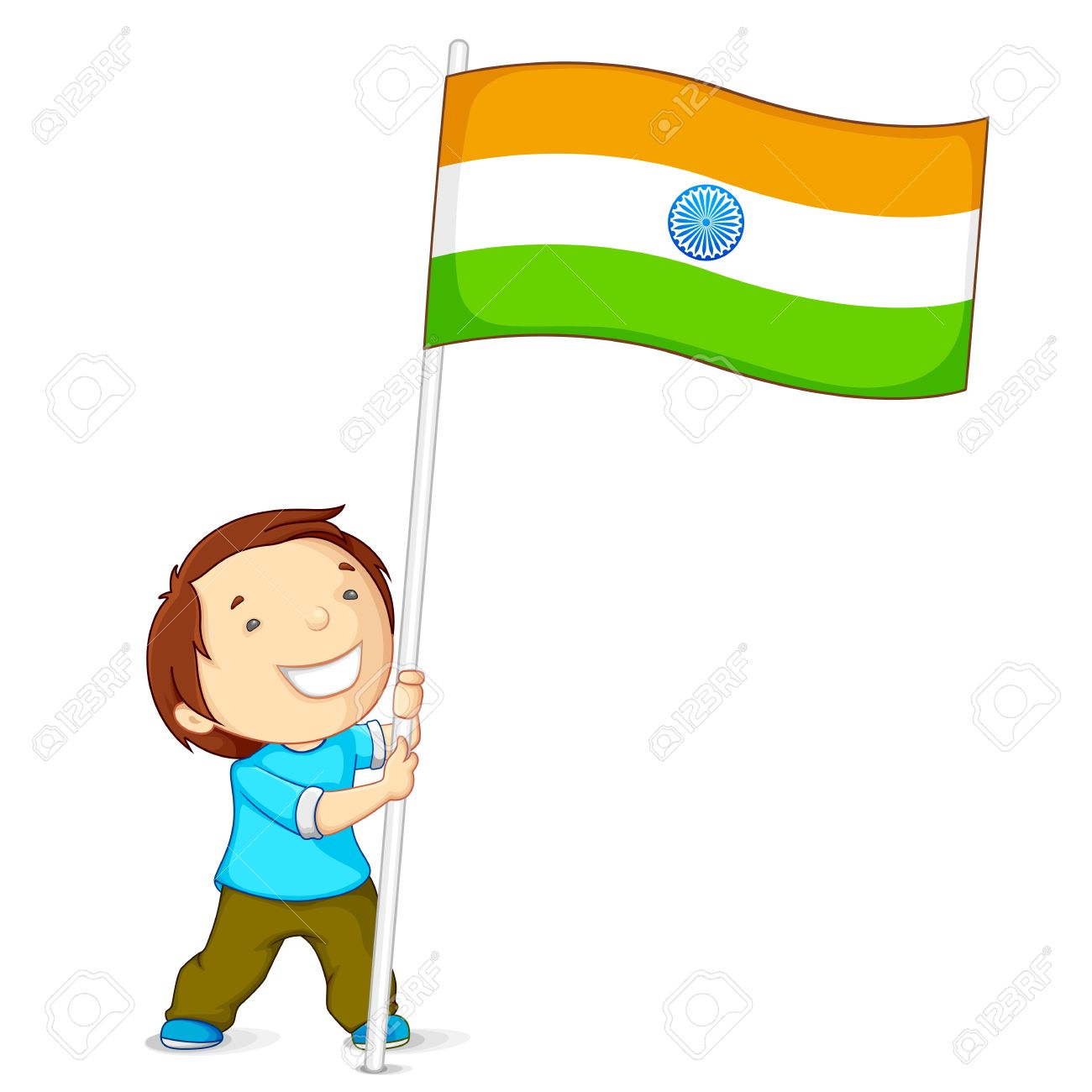 1300x1300 Collection Of Kids With Indian Flag Clipart High Quality