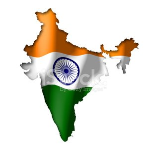 300x300 India Map And Flag Clip Art Stock Vectors
