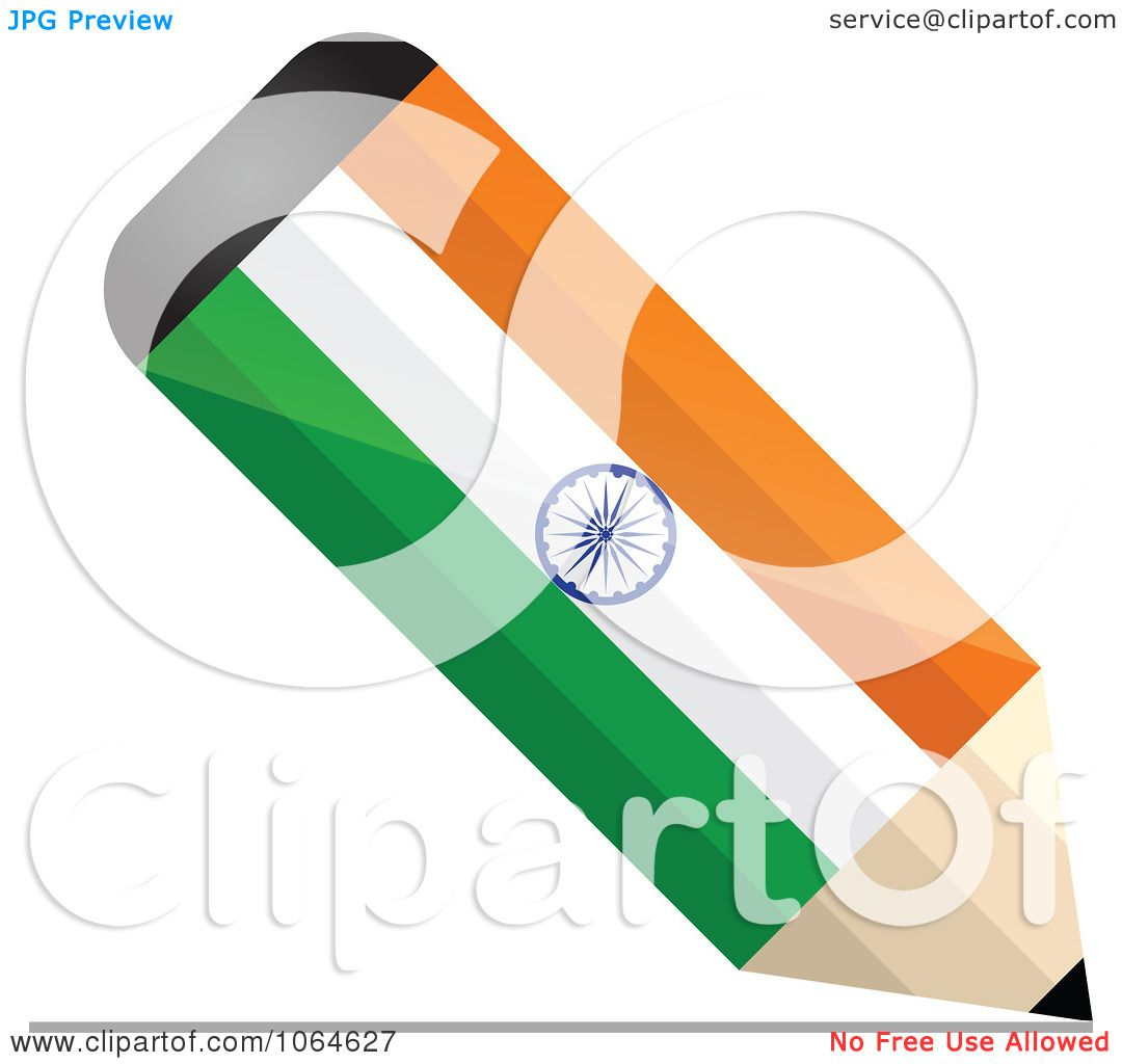 1080x1024 Clipart 3d Writing Indian Flag Pencil