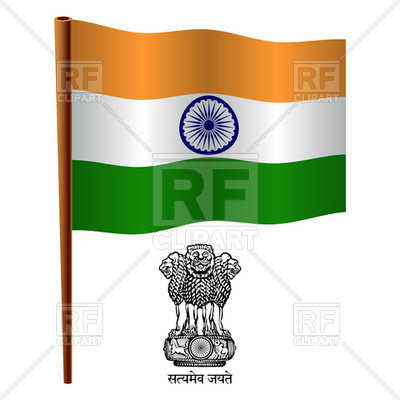 400x400 India Flag And Coat Of Arms Royalty Free Vector Clip Art Image