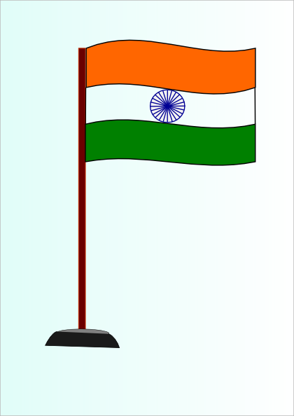 420x594 Indian National Flag Clip Art