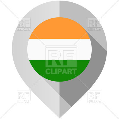 400x400 Map Marker With Flag Of India Royalty Free Vector Clip Art Image
