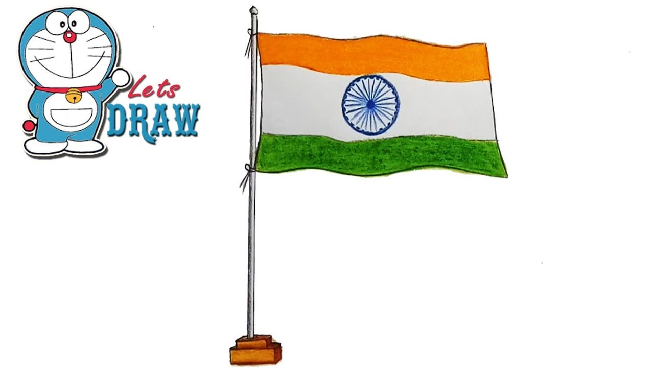 1280x720 Indian National Flag Drawing Kids Indian Student Saluting Flag