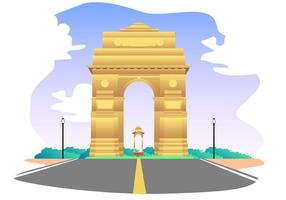 286x200 India Gate Free Vector Art