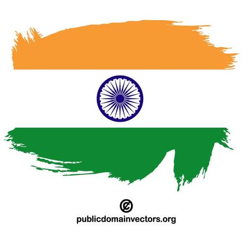 500x500 Painted Flag Of India Public Domain Vectors