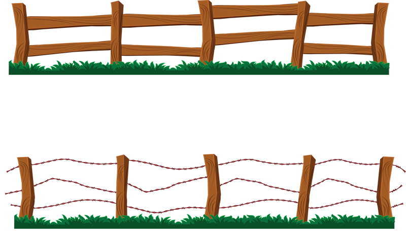800x472 Clip Art Picture Of Gate In A Wooden Fence. Description