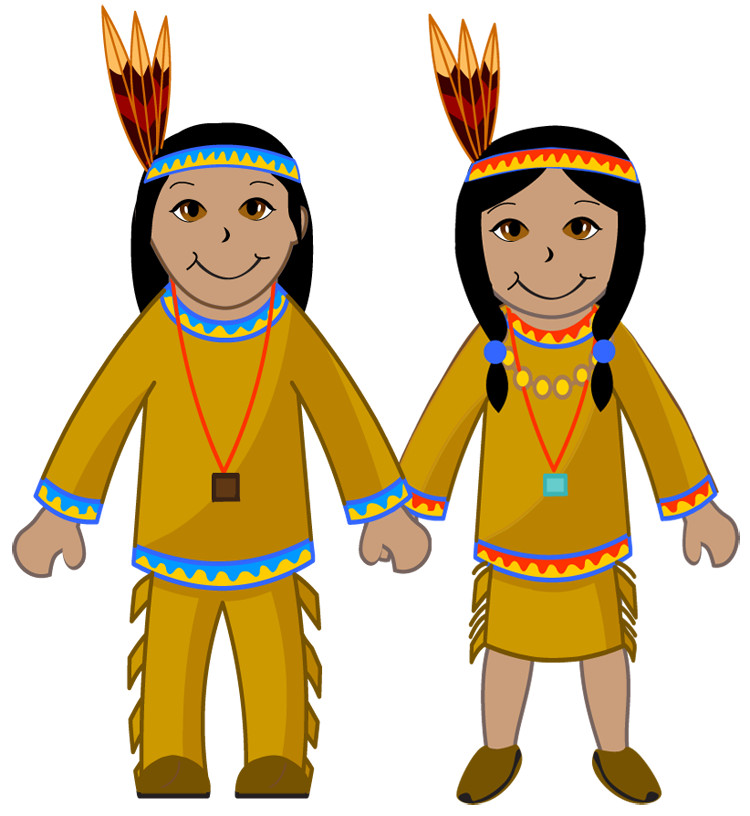 Indian And Pilgrim Clipart