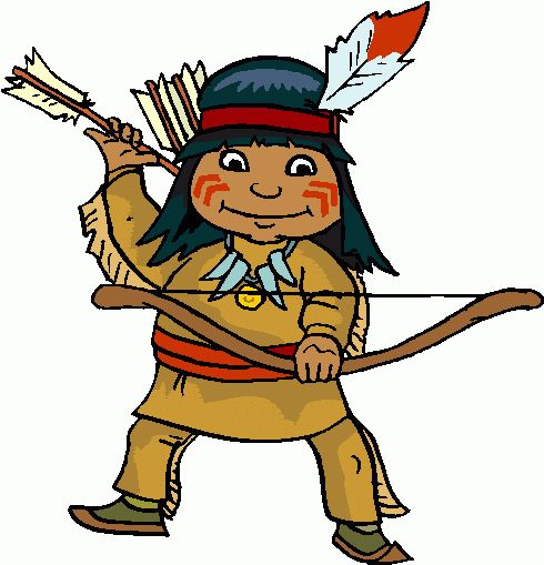 490x509 America Clipart Indian Kid