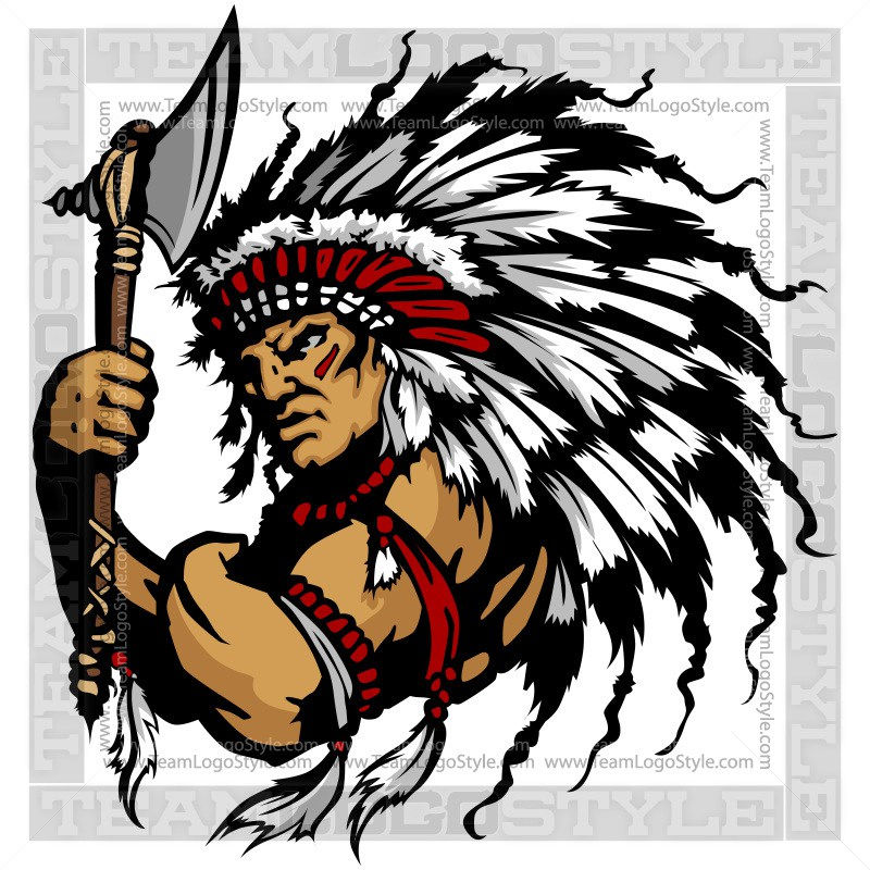 800x800 Indian Chief Clip Art