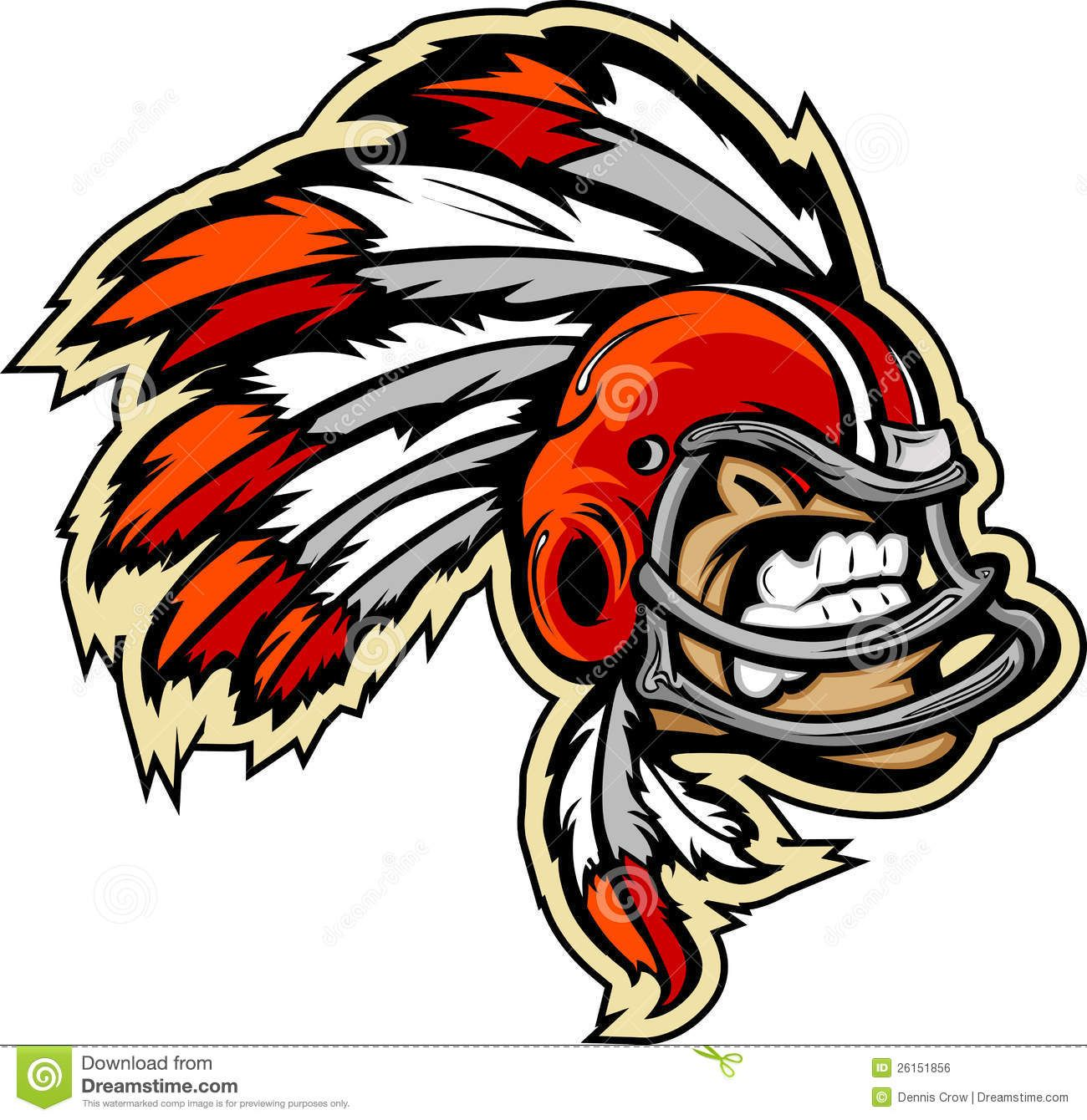 1300x1340 Indian Chief Football Mascot Royalty Free Stock Image