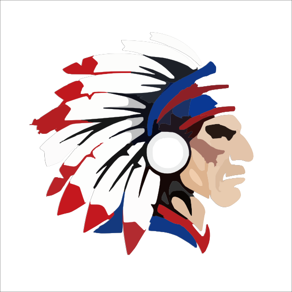 600x600 Indian Head Outline Clip Art