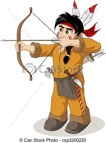 349x470 The Young Indian Chief Fishery Vector Clipart