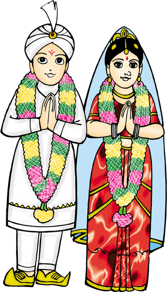 341x595 Indian Wedding Clipart Images