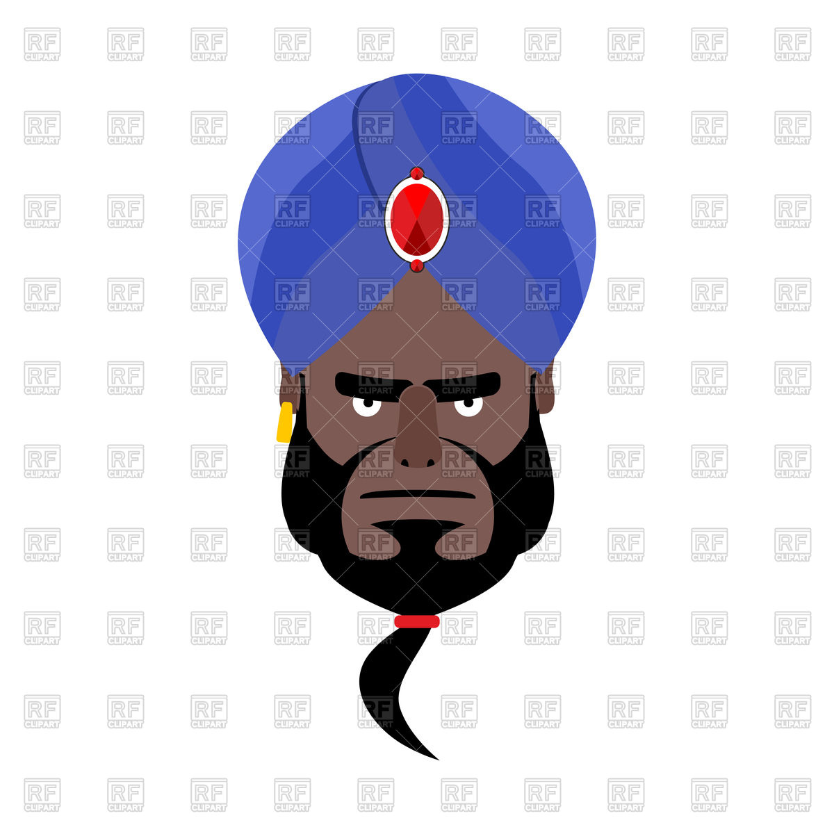 1200x1200 Indian Face In Turban Angry Emoji Royalty Free Vector Clip Art