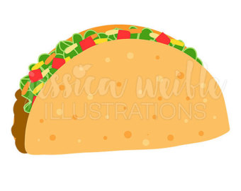 340x270 Extraordinary Tacos Clipart Mexican Taco Pictures Images Black