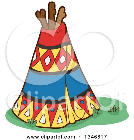 450x470 Clipart Of A Thanksgiving Native American Girl And Boy