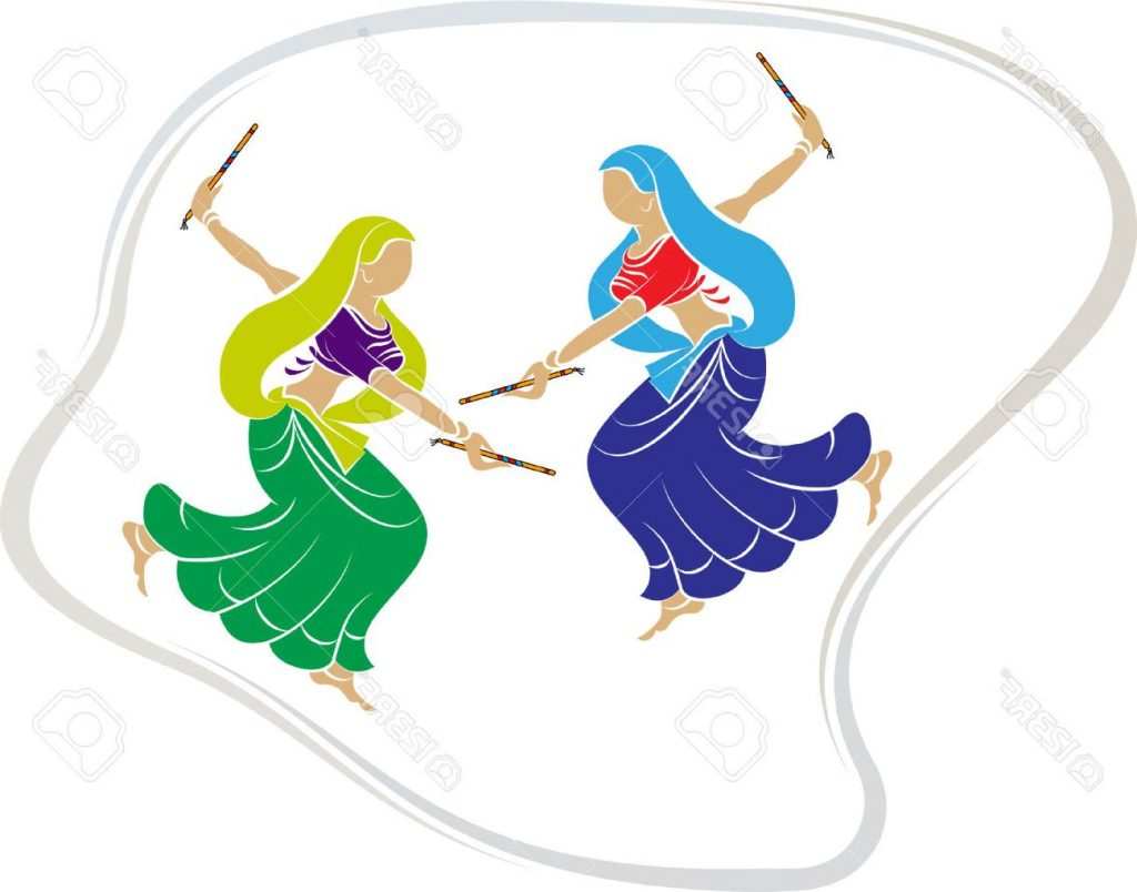 1024x804 Hd Garba Indian Dance Vector Art Stock Image