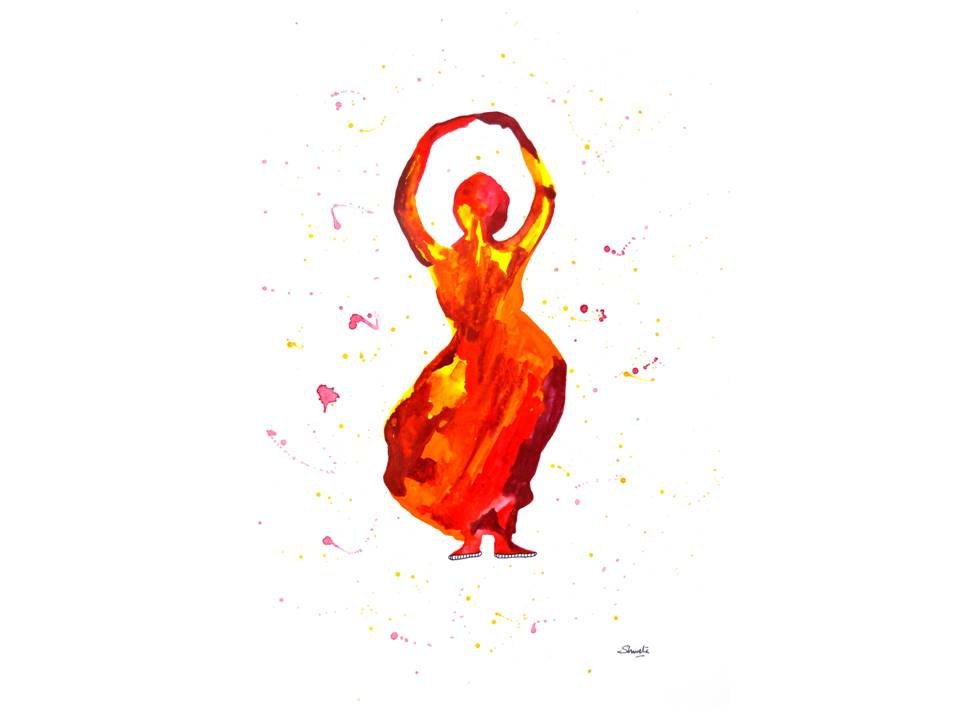 960x720 Indian Classical Dance Clipart