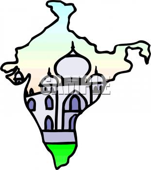 311x350 Simple India Clip Art India