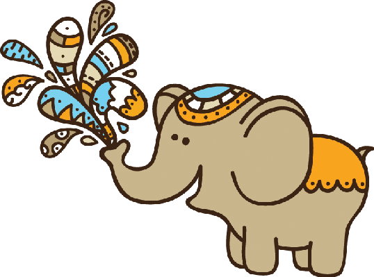 538x399 Cute Doodle Elephant Clipart The Arts Image Pbs Learningmedia