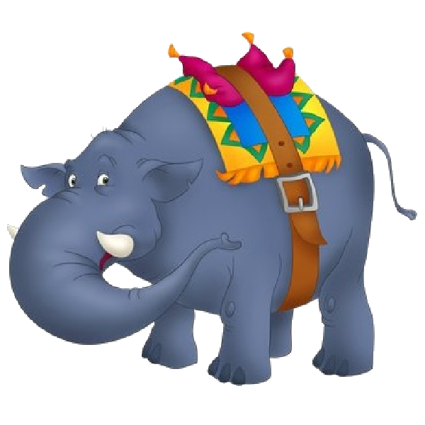600x600 Funny Circus Elephant Clipart Image Elephants Clip