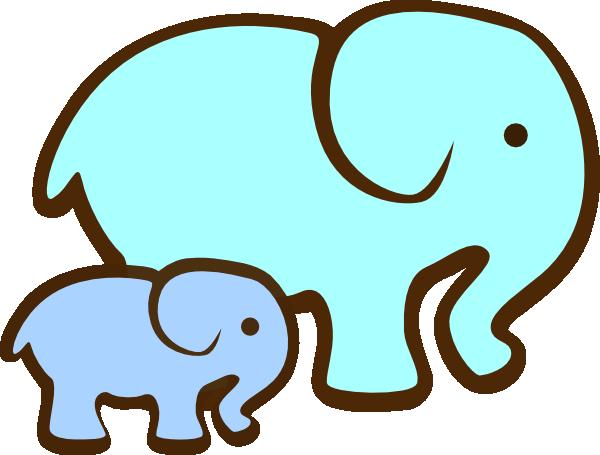 600x455 Grey Baby Elephant Clipart