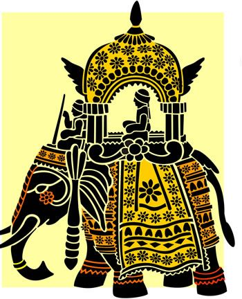 350x432 Indian Elephant Clipart Elephant Art Indian