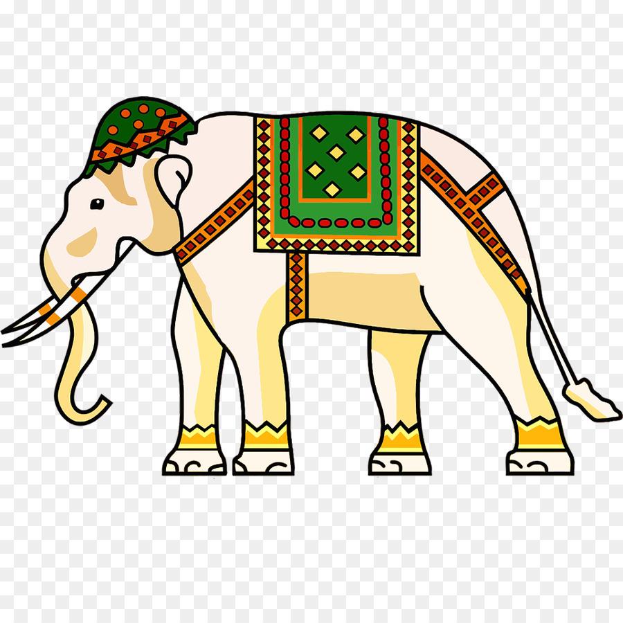 900x900 Indian Elephant Ornament Clip Art