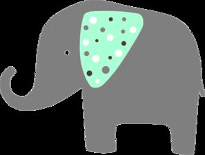 297x225 Mint Green Elephant Clip Art