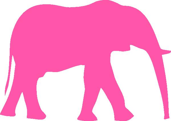600x423 Pink Elephant Clip Art