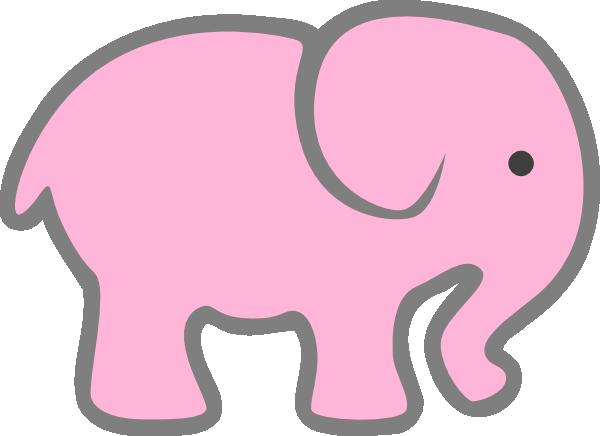 600x436 Pink Elephant Clip Art Clipart Panda