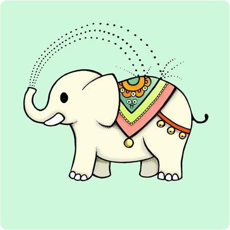 450x450 Elephant Print Clipart