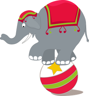 286x307 Circus Elephant Clip Art Clip Art