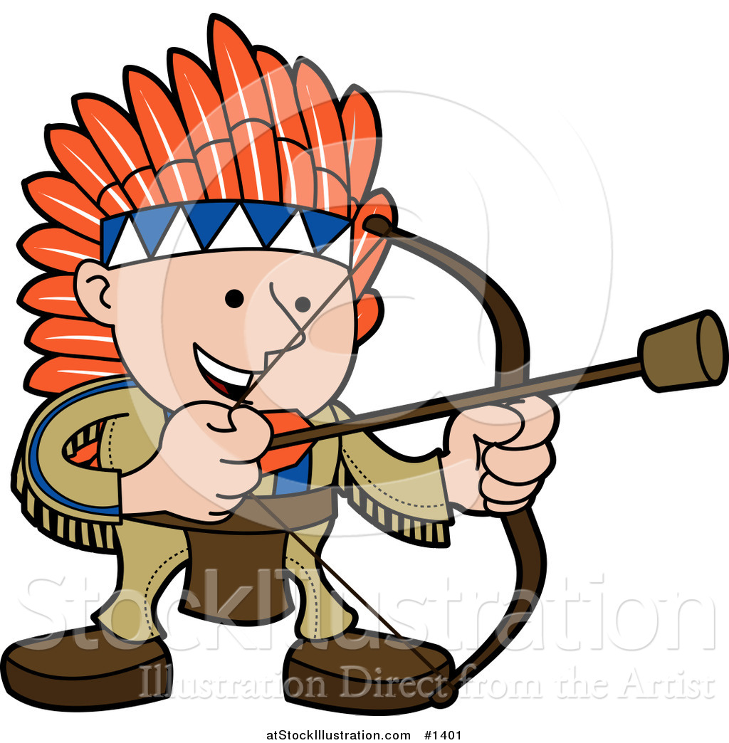 1024x1044 Vector Illustration Of A Smiling Boy In A Native American Indian