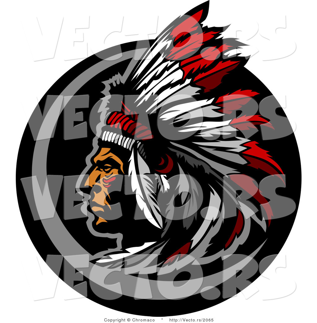 1024x1044 Vector Of A Native American Chief Wearing Feather Headdress By