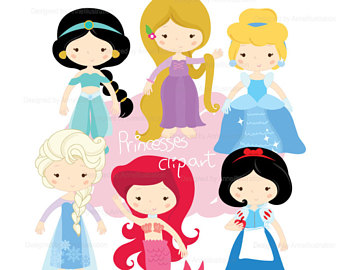 340x270 Digital Princess Clipart Disney Princess Clip Art Cute