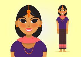 286x200 Indian Woman Free Vector Art