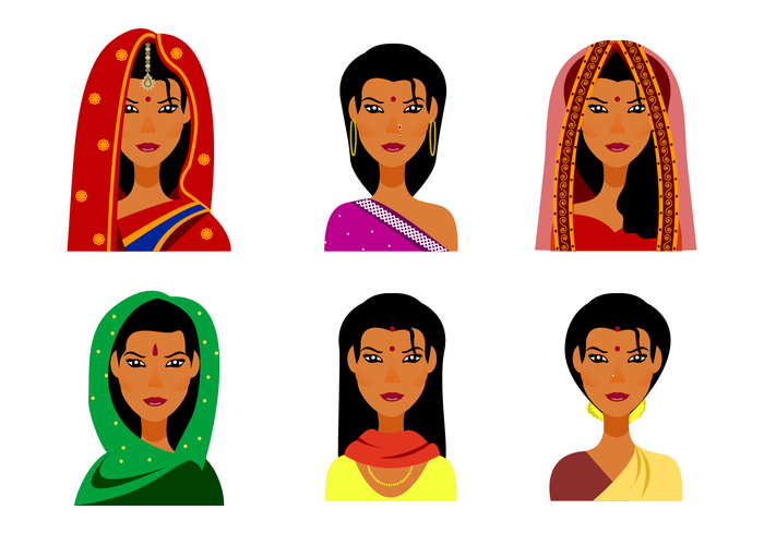 700x490 Indian Woman Free Vector Art