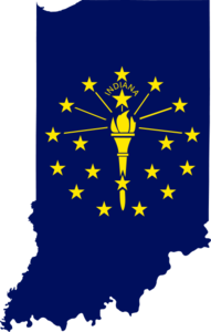 191x300 Px Flag Map Of Indiana Free Images