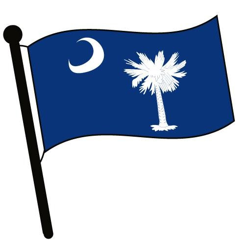 500x500 South Carolina Waving Flag Clip Art