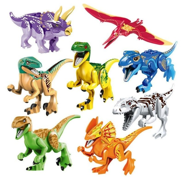 640x640 10lots Of77021 Jurassic World Dinosaur Set T Rex Indominus Rex