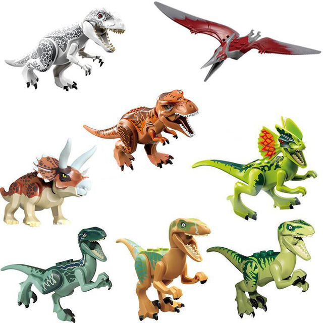 640x640 8pcslot 77001 World Dinosaur Set T Rex Indominus Rex Bricks Mini