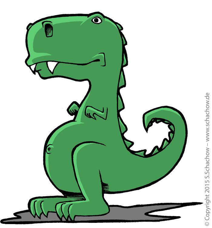 700x752 Zeichnung Von Einem Niedlichen T Rex