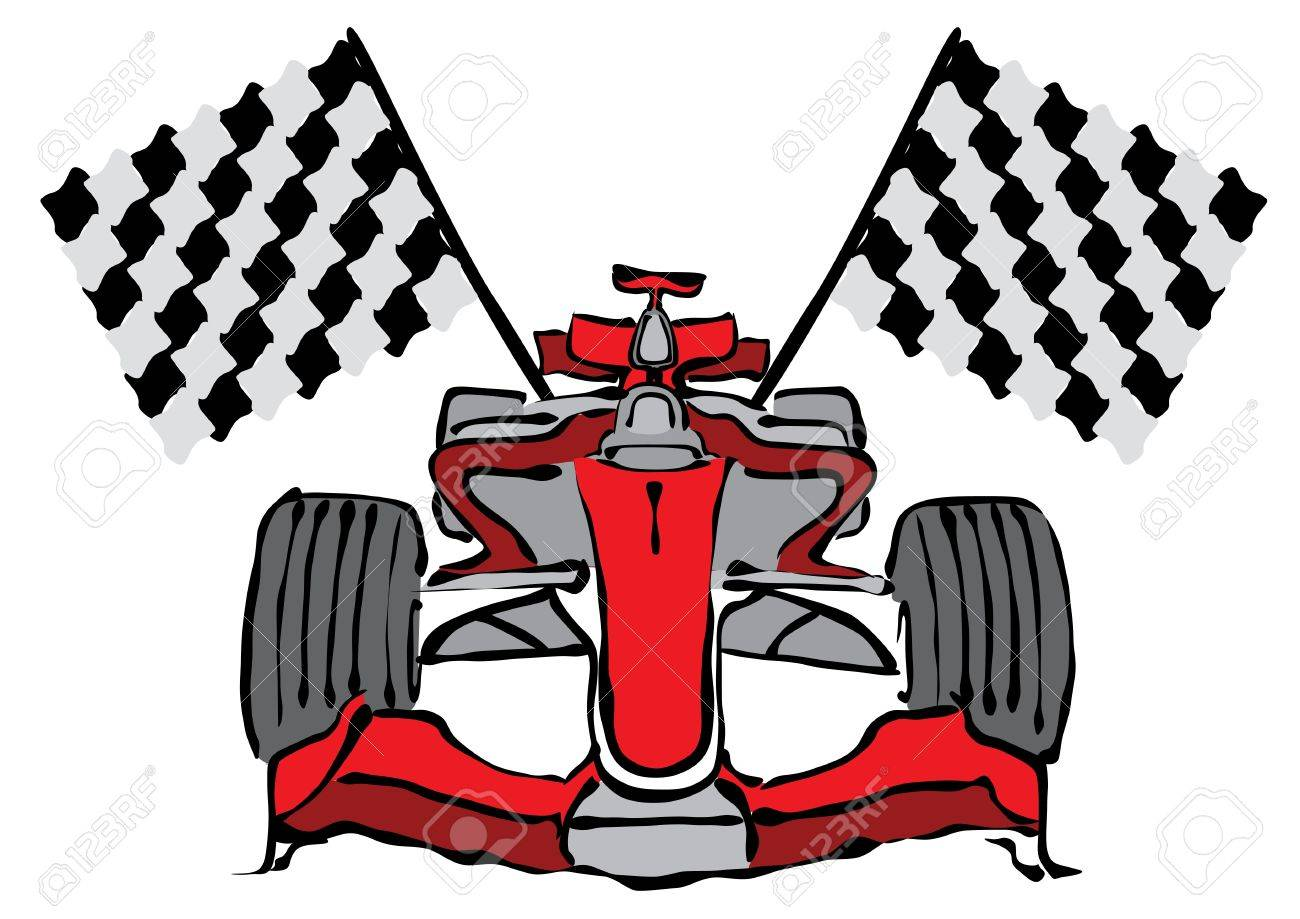 1300x919 Formula One Car Clipart Pencil And In Color