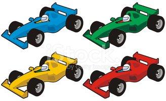 328x200 Race Car Icons Stock Vectors