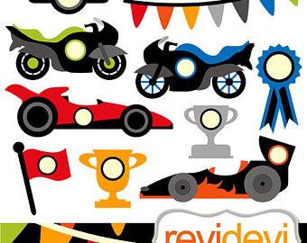 340x270 Racing Car Clipart Etsy
