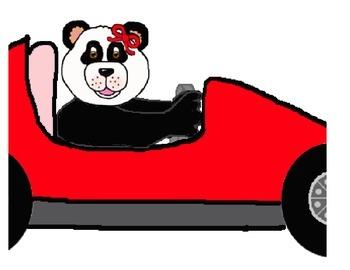 350x270 Teddy Bear Boy Girl Indy Race Car Clipart By Teddy Bear Corner Tpt