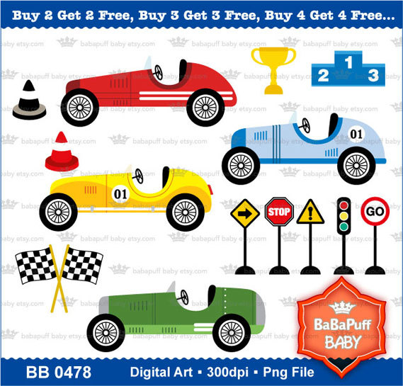 569x545 Buy 2 Get Free Vintage Racing Cars Clipart By Babapuffbaby Race